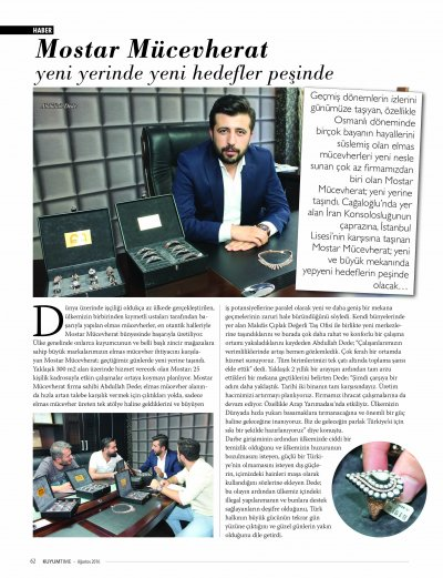KUYUMTIME MAGAZİNE AUGUST 2016